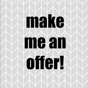 make me an offer on any of my products!